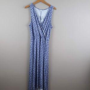 Old Navy Maxi Dress Blue Size Large